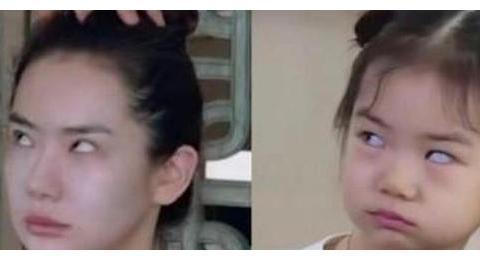 戚薇与女儿lucky长得够像了,当看到杨幂和女儿,简直是复制粘贴