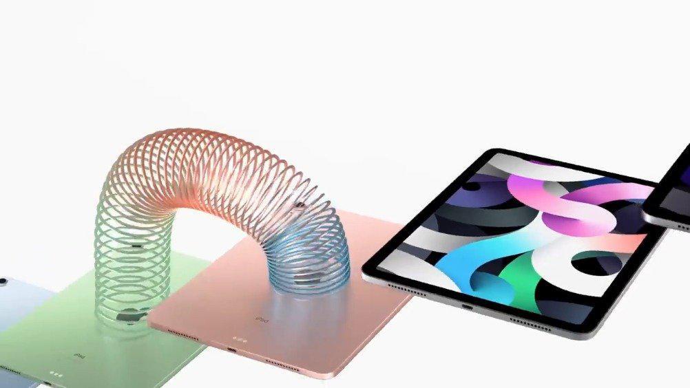 由螺旋弹簧玩具加持的iPad Air宣传视频~ iPad