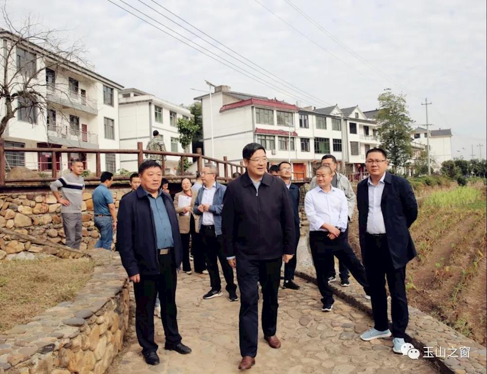 胡剑飞调研玉山县人居环境整治和农民建房管控工作