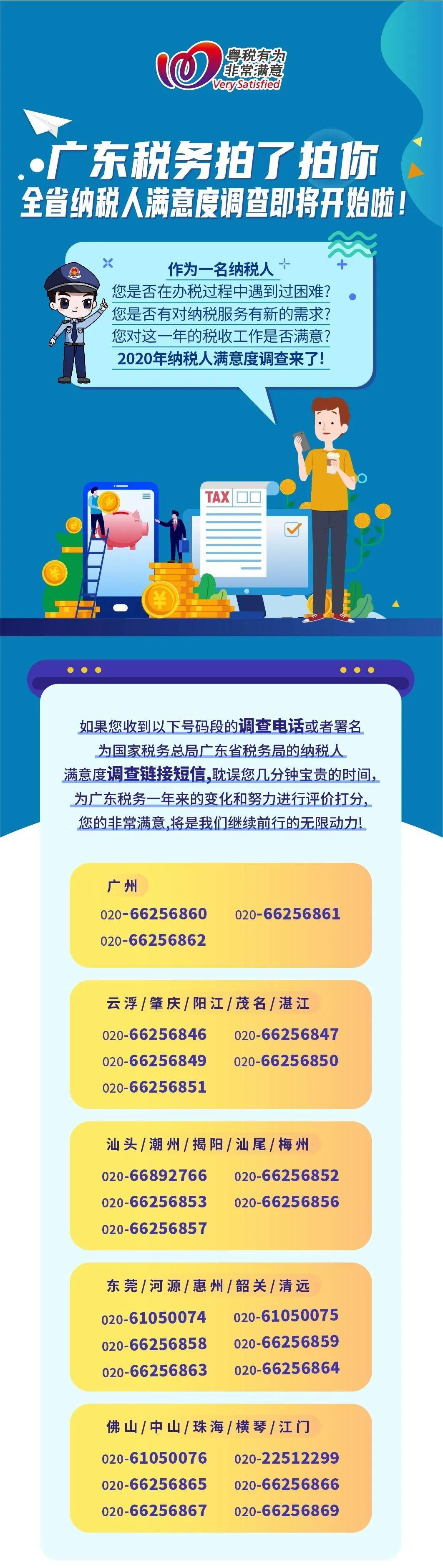 东莞税务@您,2020年广东省纳税人满意度调查开始啦
