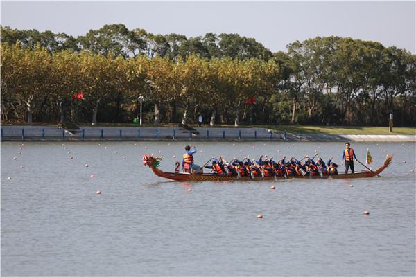 绿舟水上竞速忙!第三届市民运动会龙舟总决赛激情开桨