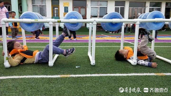 我的游戏我做主!惠民县实验幼儿园开展户外玩教具展评活动