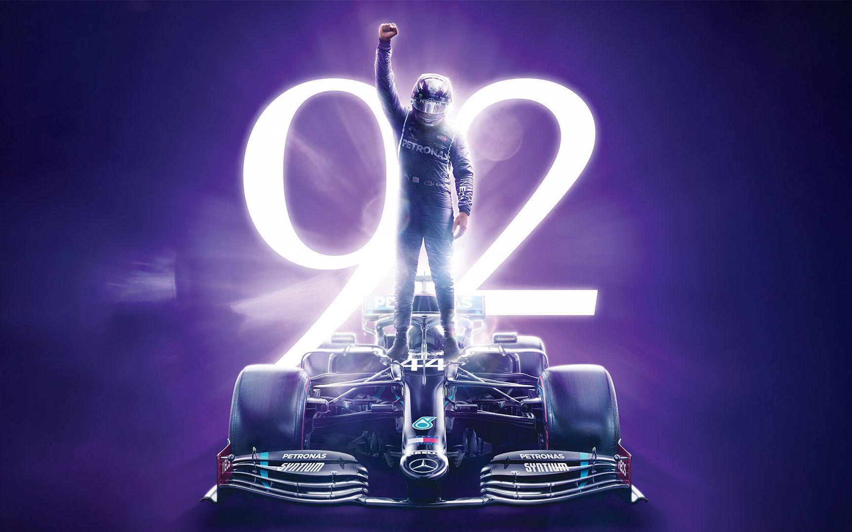 92冠!汉密尔顿超越舒马赫成F1第一人图片