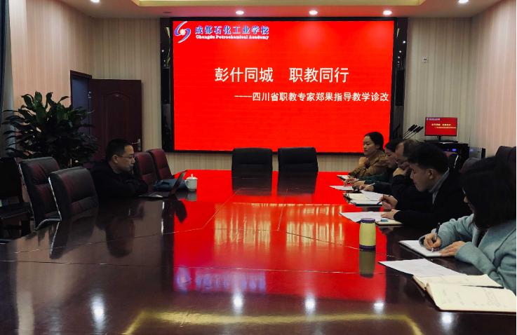 四川省职教专家指导成都石化工业学校教学诊改