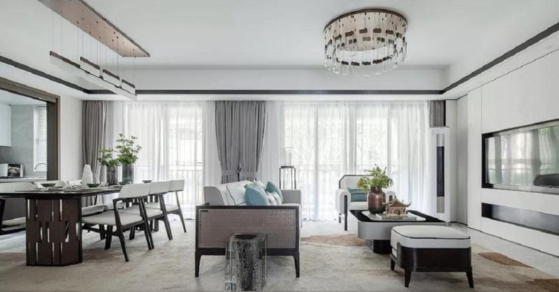 169平米三居室仅17万,太超值了!新中式风格老婆最爱!