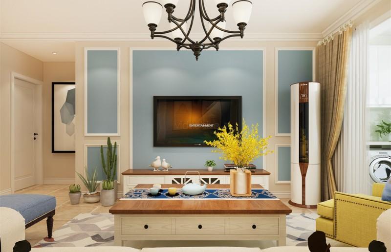 三居室的房子多大面积好?10万元的美式风格设计说明!