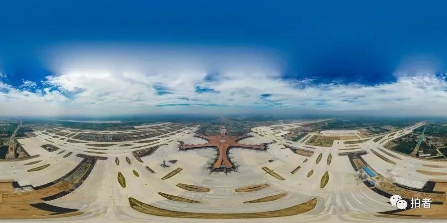 △ 2019年6月28日,大兴机场全貌(全景图)。拍照 / 新京报记者陶冉