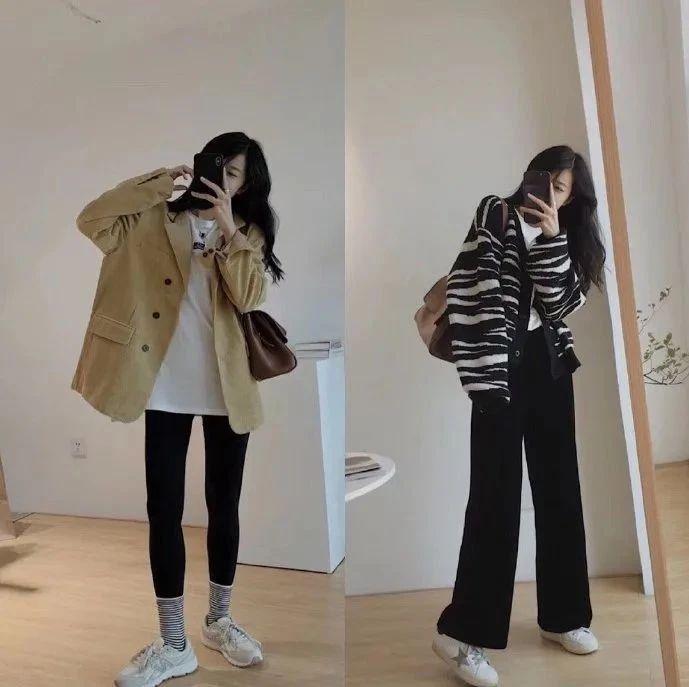 搭配参考 | 秋冬韩系小姐姐极简风深色系穿搭分享