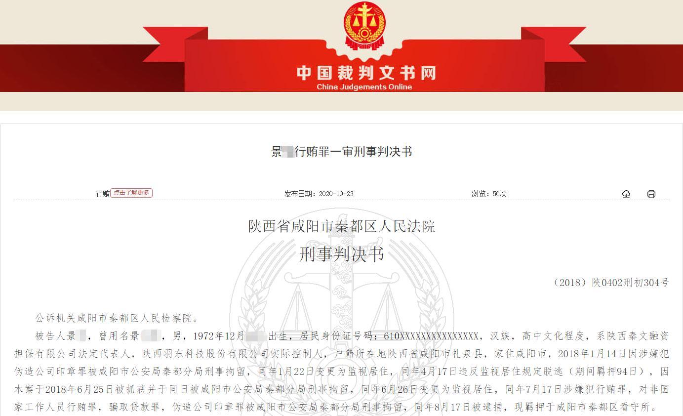 担保公司老板为贷款行贿兴平市农信联社理事长 300万现金成箱打包送出