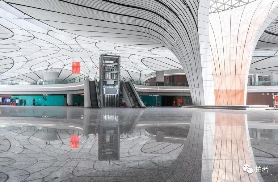 △ 2019年6月22日,大兴 站场航机楼。内部画面。拍照 /新京报记者陶冉