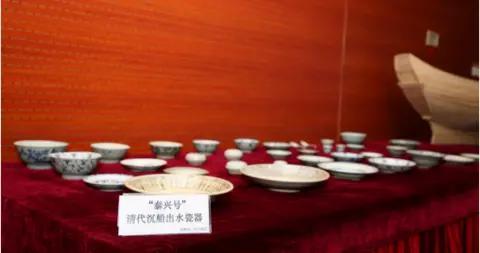 """100件""""泰兴号""""清代沉船出水瓷器入藏中国航海博物馆"""