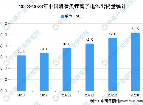 2020年中国消费类锂离子电池市场现状及发展趋势预测分析
