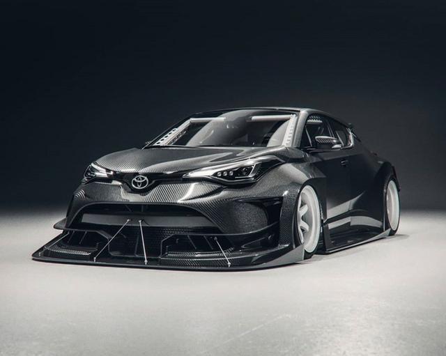 丰田C-HR特别版车型渲染图 配备碳纤维宽体套件