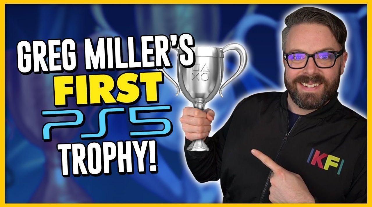 YouTube频道Kinda Funny展示了首个PS5游戏获得奖杯的动画……