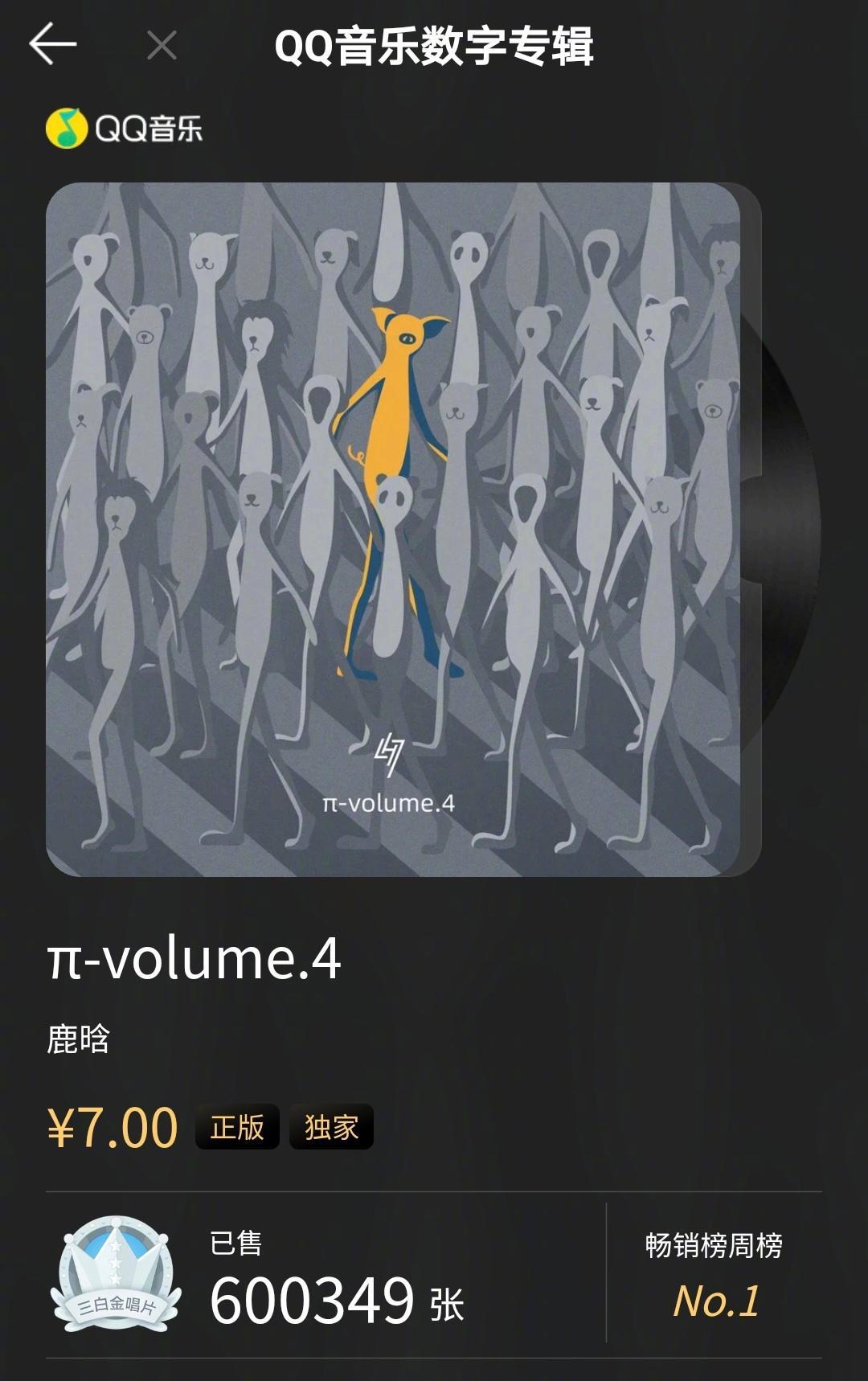 3分钟三白金唱片达成,上线不到半小时,销量破60万……