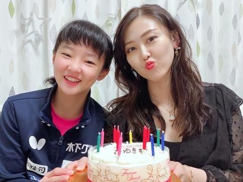 29岁华人美女教练生日,日籍弟子为她庆生,已为国乒树强敌
