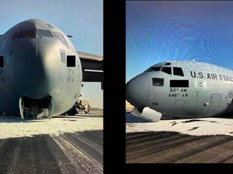 3天发生2起事故!C-17机腹着地迫降,美军教练机却机毁人亡