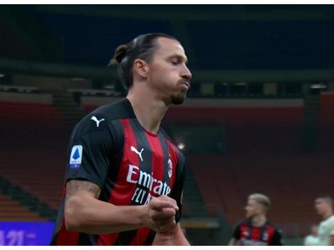 39岁伊布连场进球 铁卫中柱哲科破门 AC米兰半场1:1罗马