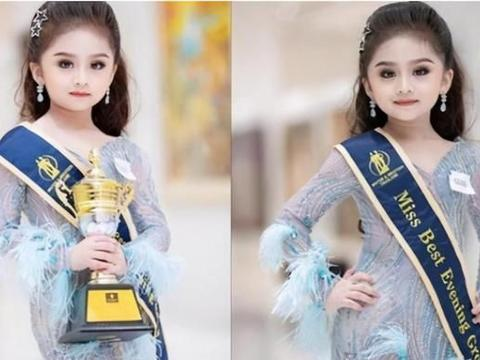 """6岁泰国女孩获""""选美冠军"""",卸下浓妆艳抹后,比比赛还漂亮"""