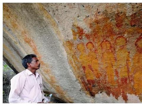"""外星人早来地球了?印度发现1万年前的壁画,疑似出现""""UFO""""!"""