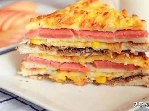 小朋友喜爱的乳酪三明治,简单又营养,每天早起十分钟就能做好