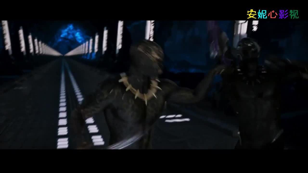 黑豹大战反派堂弟,两人身穿同款战服,黑豹技高一筹翻盘取胜!