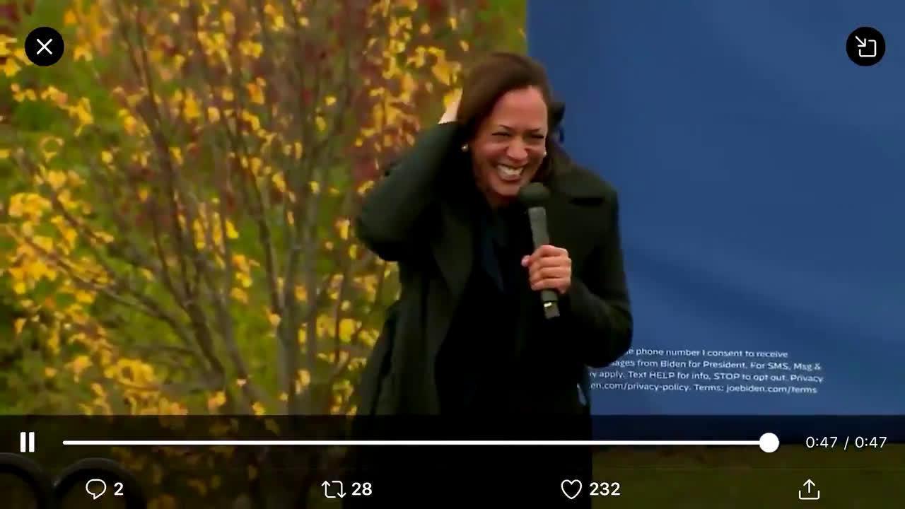哈里斯的笑声引起了很多美国左派人的不满……