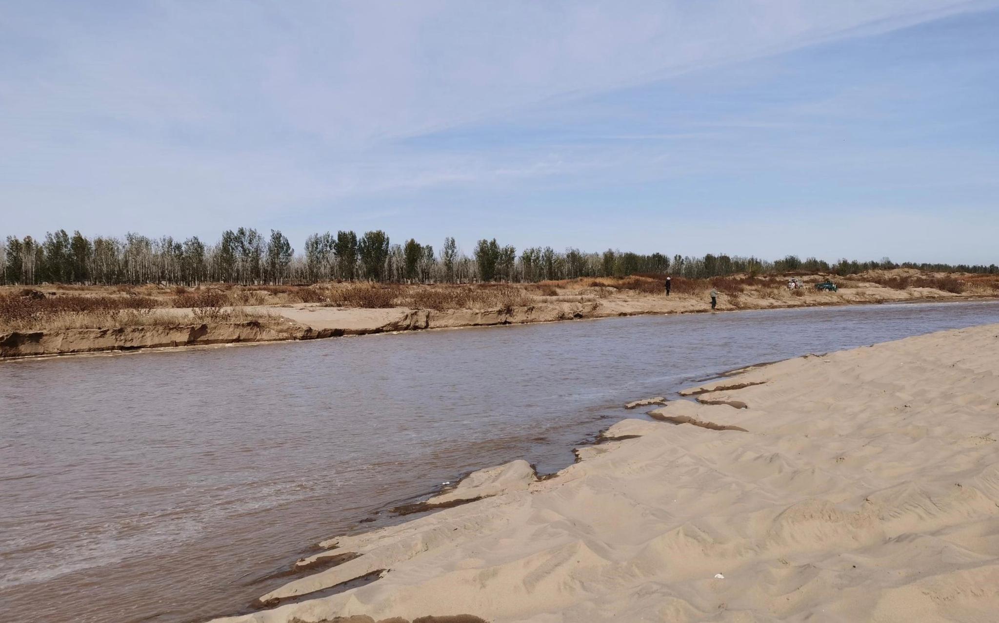 永定河今年第二次补水,水头今早8点抵达市界图片