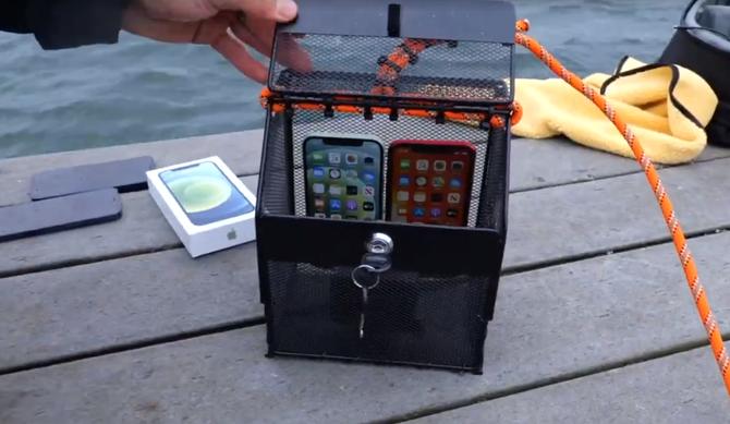 iPhone12防水能力测试,9米水深待20分钟无压力