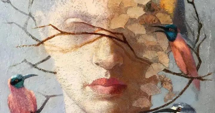 美国女画家劳里·卡普洛维兹幽灵般的人物肖像作品欣赏