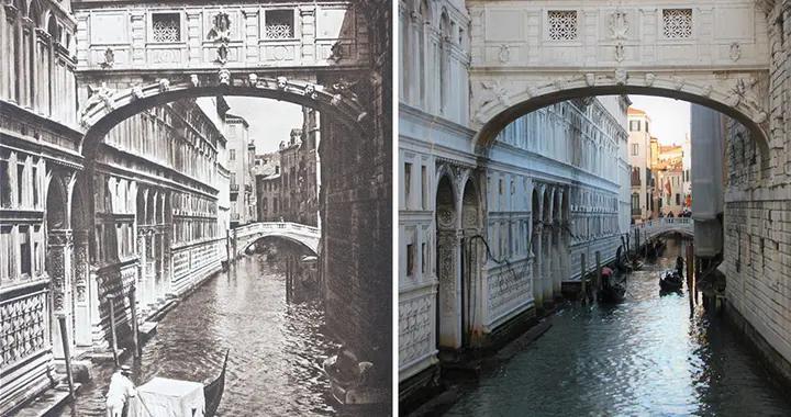 他重拍100年前欧洲的老照片,用相机记录下历史的变迁