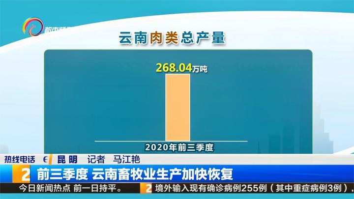 前三季度 云南畜牧业生产加快恢复