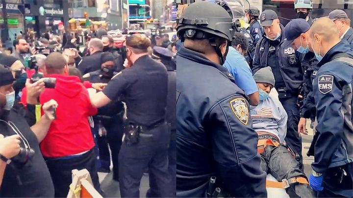 """实拍:特朗普支持者与反对者发生群殴 上演""""全武行""""有人受伤!"""