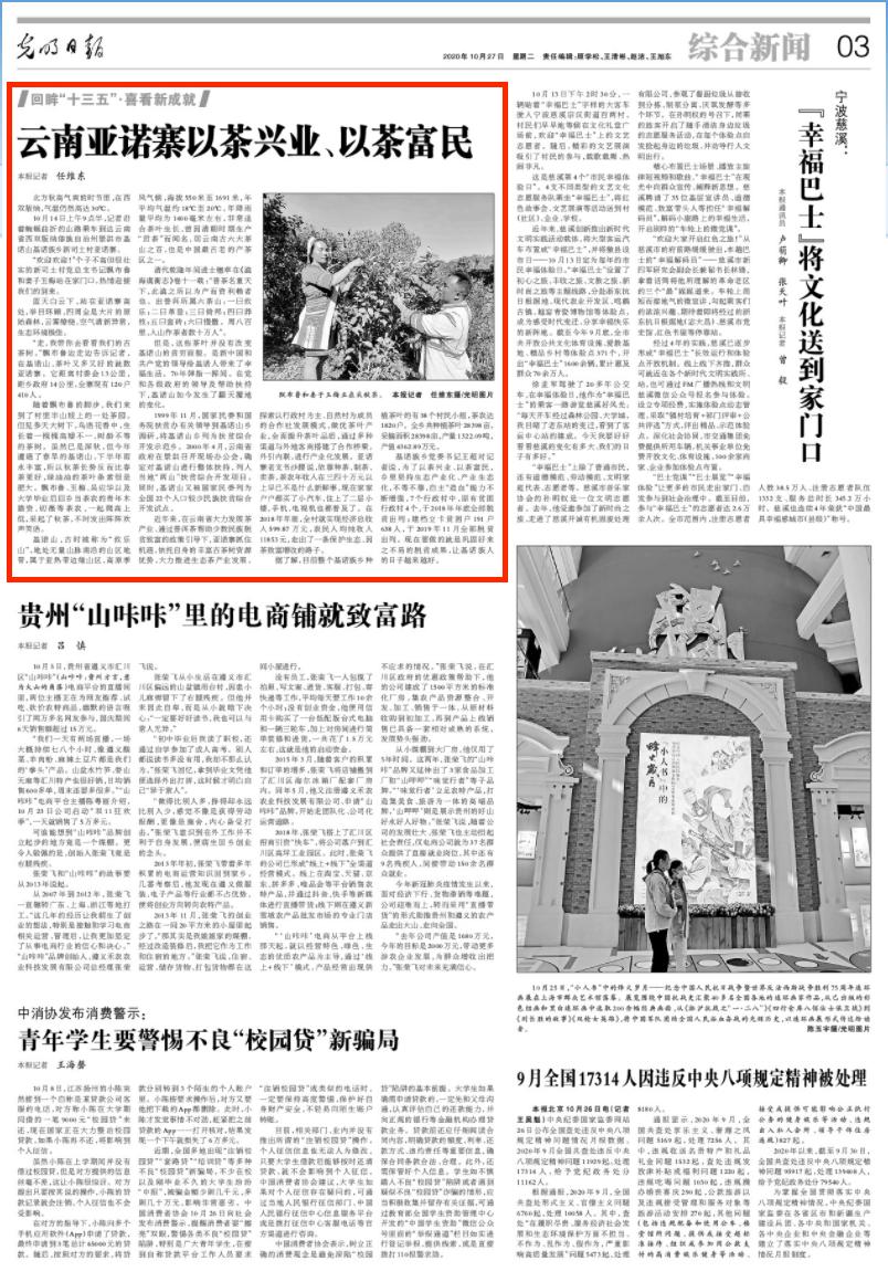 《光明日报》报道!云南这个寨子以茶兴业、以茶富民图片