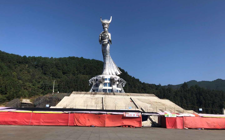 """贵州剑河88米雕塑争议:当地官员称""""不能因为质疑就不做了""""图片"""