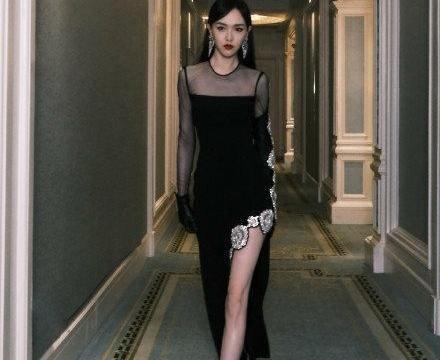 唐嫣当妈后更美了!穿紧身礼服有气质还显瘦,斜开衩秀美腿太惊艳