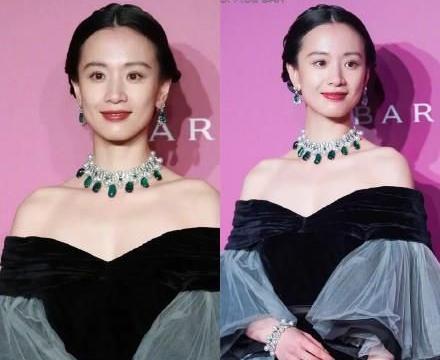 28岁李梦太有贵妇相,露肩蛋糕裙配华丽珠宝,雍容华贵有魅力