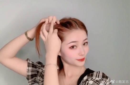 韩式慵懒风低丸子头,比闺蜜的丸子头好看多了!