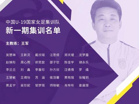 中国U19女足国家队第三期集训名单:王军挂帅,江苏8人入选