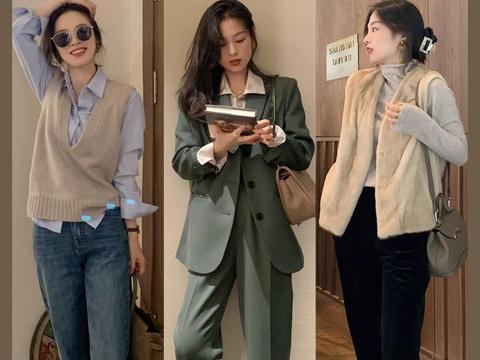 30岁女人秋季职场穿搭示范,精致温柔优雅知性,穿出独立与自信