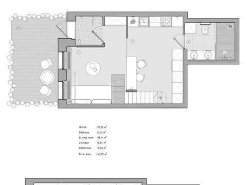 这套loft装修得好赞,既通透敞亮又显高级大气,最爱楼梯和卫浴区