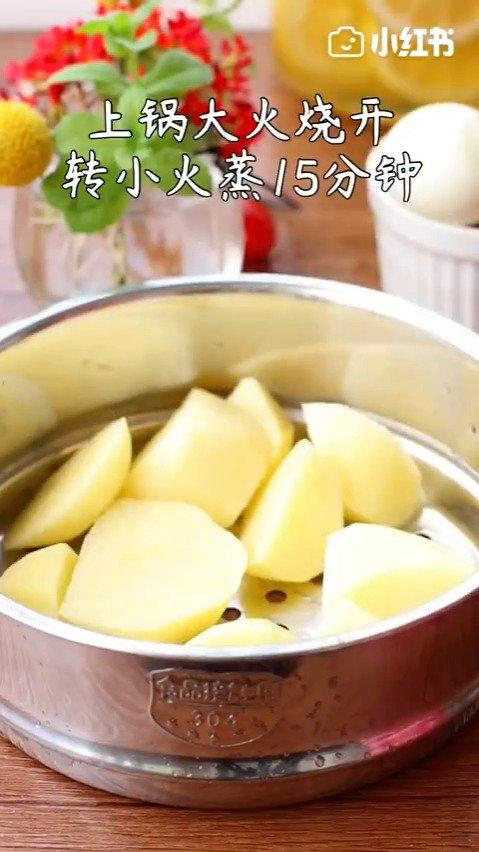 连吃三天都不腻的~土豆泥沙拉🥗蛋白卷❗️