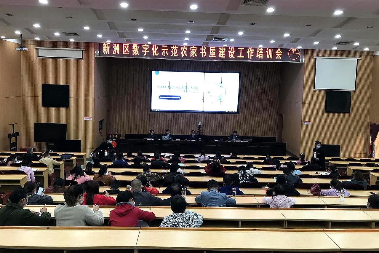 武汉市新洲区举行,数字化农家书屋试点建设,工作培训会