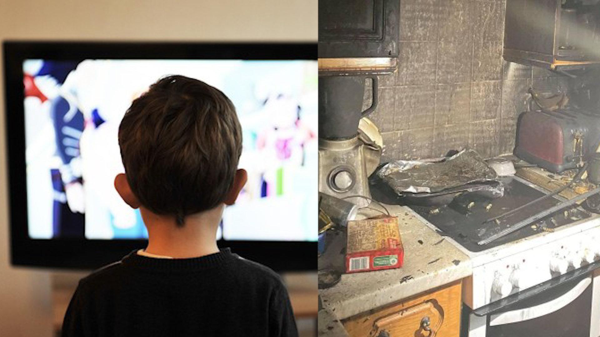 男孩5点起床看电视遭家人取笑,某天早起发现烘干机起火救下全家