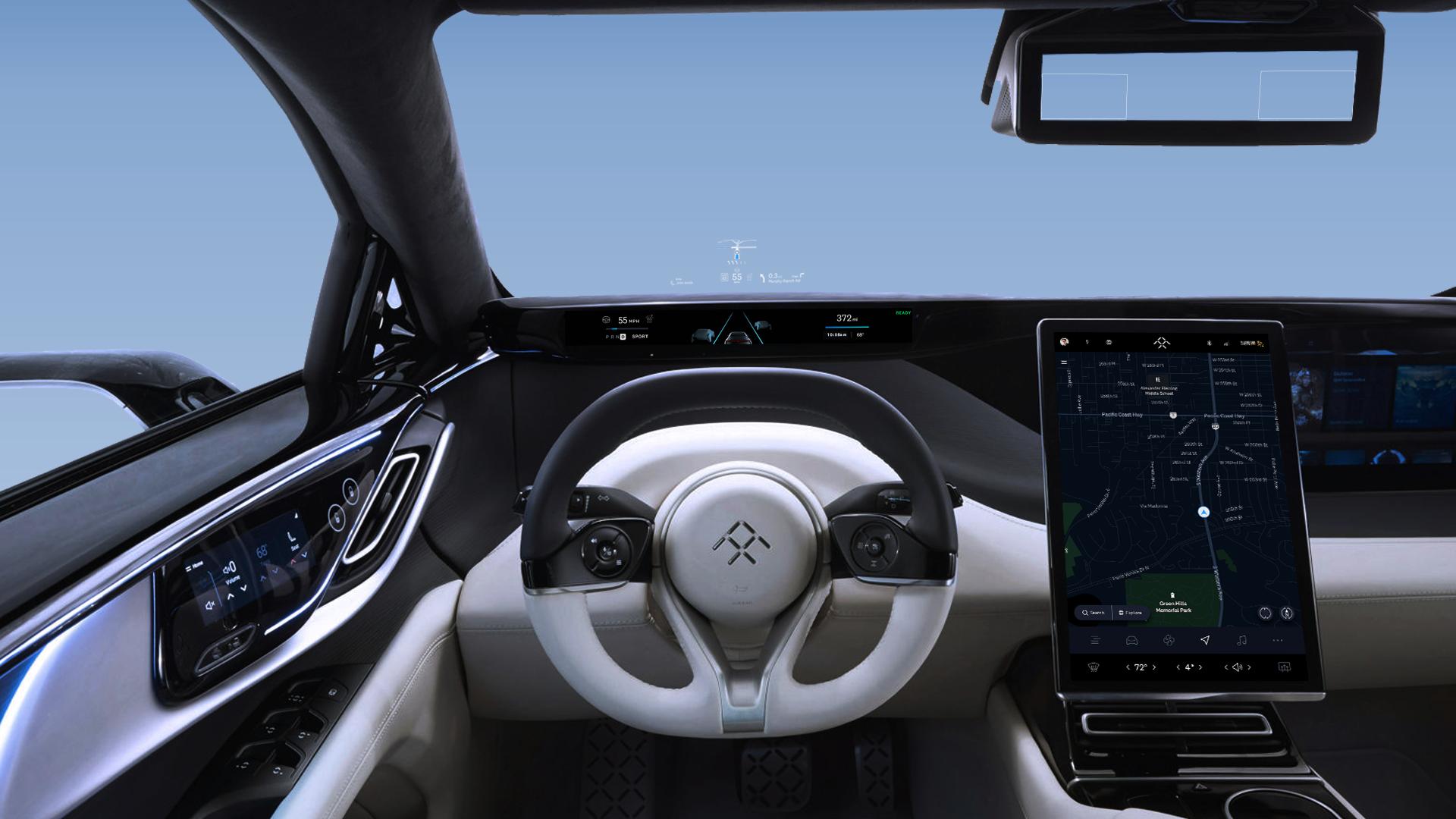 法拉第未来将FF 91的抬头显示器功能提升至创新和安全的新水平
