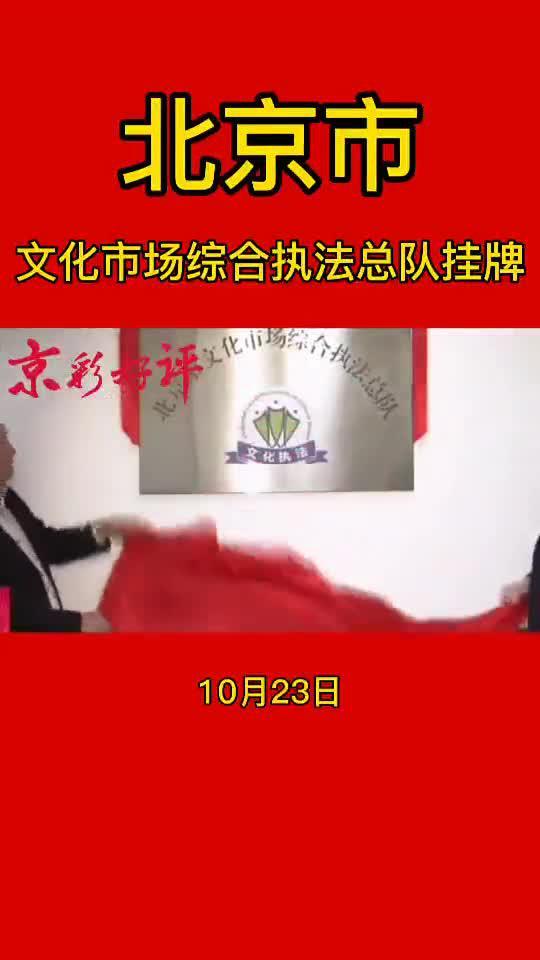 北京市文化市场综合执法总队挂牌