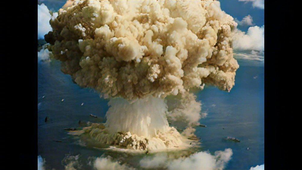 高清彩色1946年水下原子弹爆炸影像