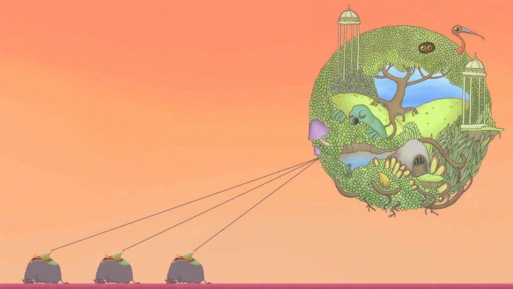 震撼动画短片《大象花园》 画风清奇,想象力超群……