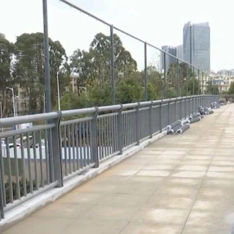 这下方便了!11月起,海源寺附近一座新建的人行天桥将投入使用!