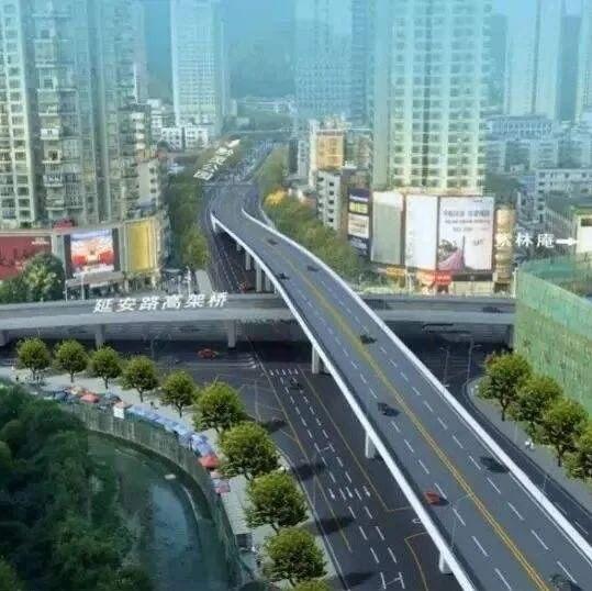 贵阳延安西路高架桥10月31日开始施工!交通组织和公交线路这样调整